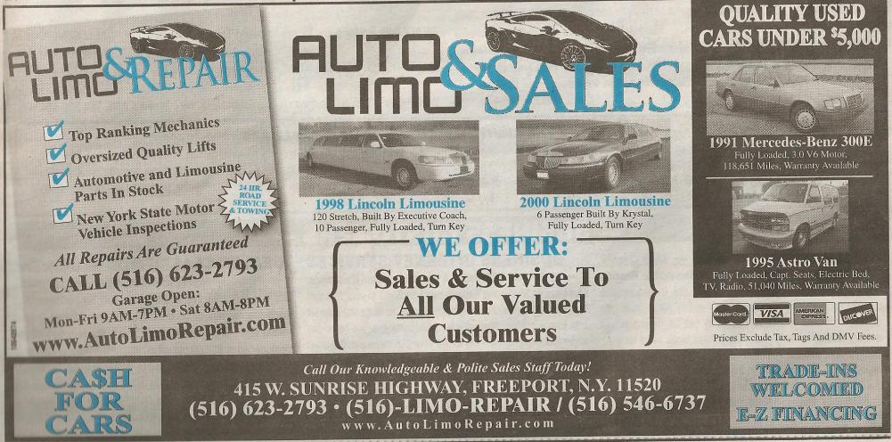 Auto Limo Sales of Long Island